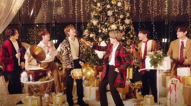 """WATCH: BTS sings """"Santa Claus Is Comin' To Town"""" for a Disney special"""