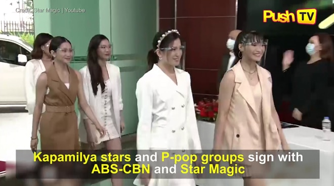 Kapamilya stars and P-pop groups sign with ABS-CBN and Star Magic