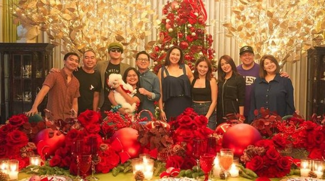 LOOK: 'The House Arrest of Us' cast gathers for Christmas dinner party