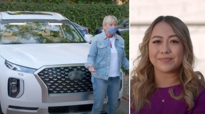 Ellen Degeneres gives Filipina nurse Flor Ross a brand-new car