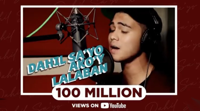Iñigo Pascual's 'Dahil Sa 'Yo' records over 100M views on YouTube