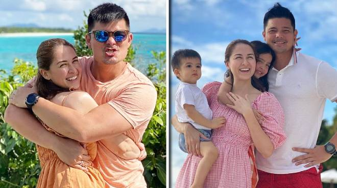 LOOK: Dingdong Dantes, Marian Rivera enjoy beach holiday