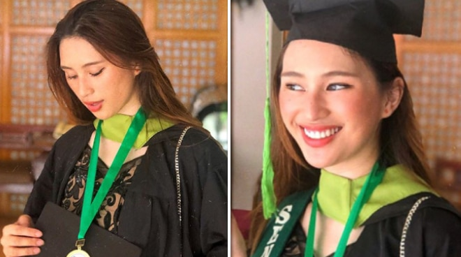Lala Vinzon graduates from senior high school