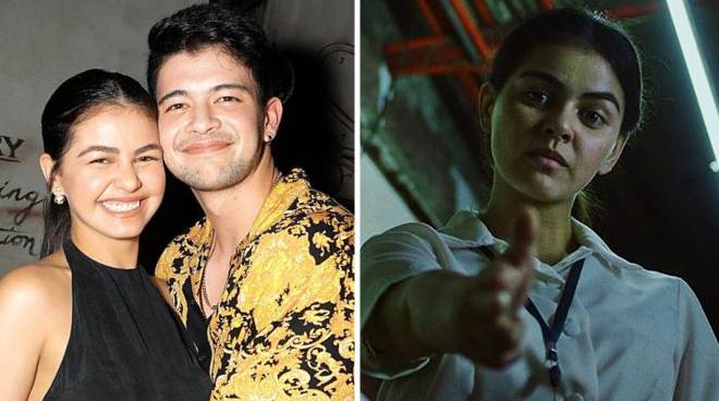 Ravyer Cruz congratulates Janine Gutierrez on Gawad Urian win
