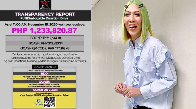 Vice Ganda's donation drive for typhoon victims raises over 1M