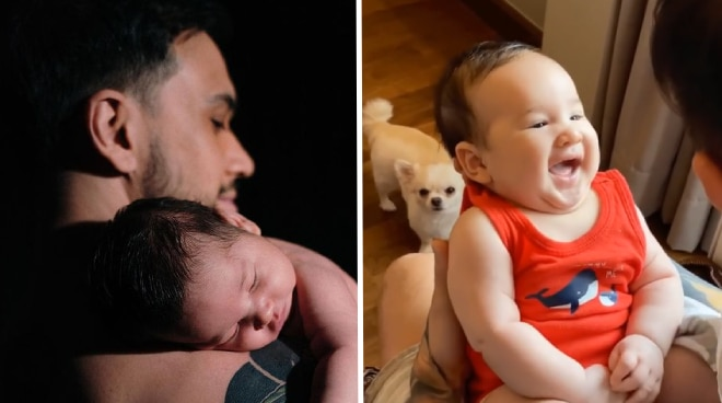 CUTIE! Baby Amari is just adorable as daddy Billy Crawford sings his 'happy' song'
