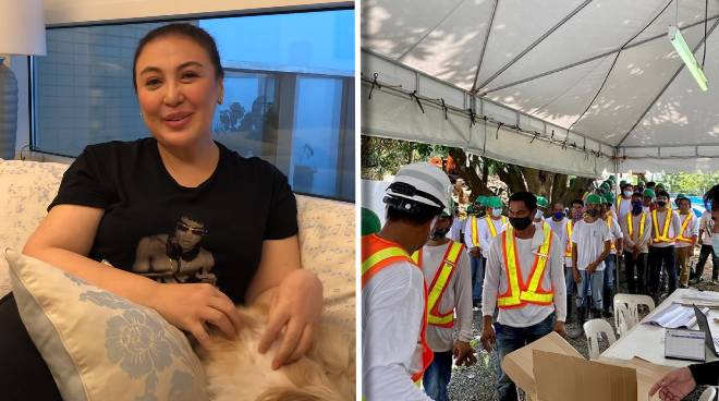 LOOK: Sharon Cuneta provides jobs to many construction workers amid pandemic