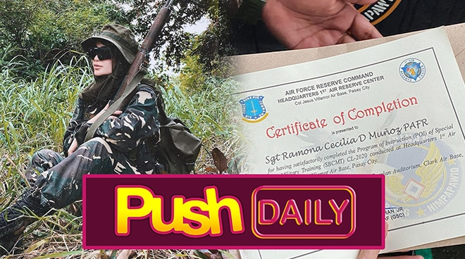 Arci Munoz ganap nang sergeant PH Air Force Reserve Command | PUSH Daily