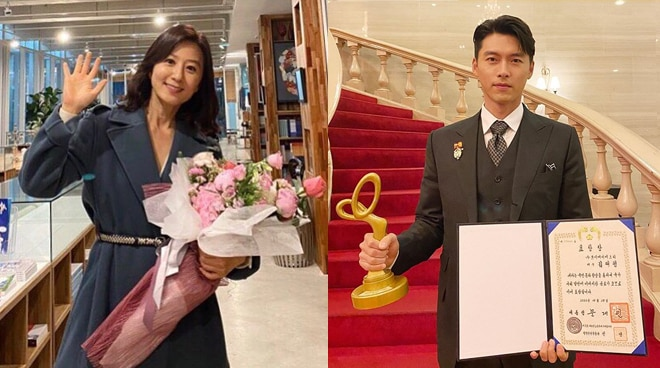 'Crash Landing on You' actor Hyun Bin, 'The World of the Married' actress Kim Hee-ae receive Presidential Citation awards