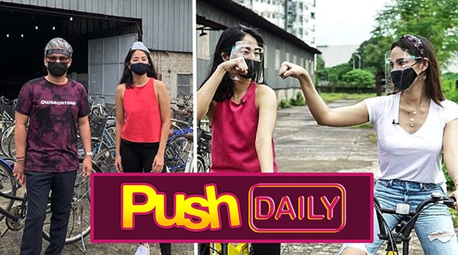 Catriona Gray at Sam Milby, namigay ng mga bike | PUSH Daily
