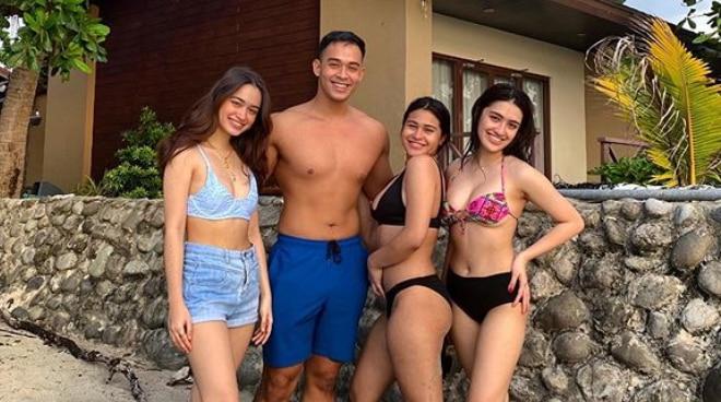 Diego Loyzaga goes on a beach trip with his sisters Angelina, Sam, and Chesca Cruz