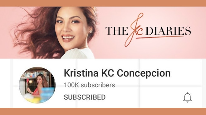 KC Concepcion now has 100,000 YouTube subscribers