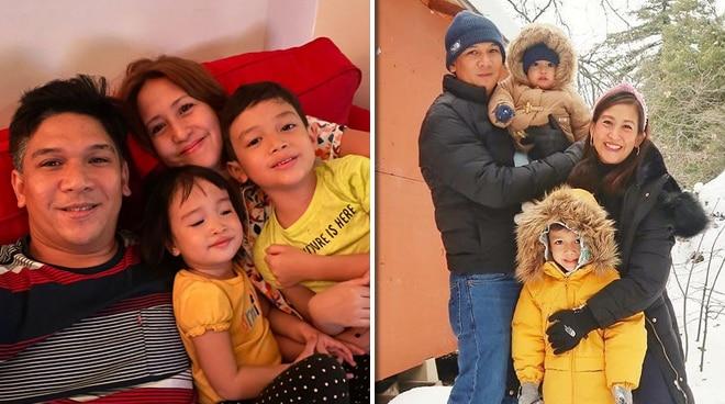 FAMILY FUN: Jolina Magdangal and Mark Escueta's happy kids Pele and Vika