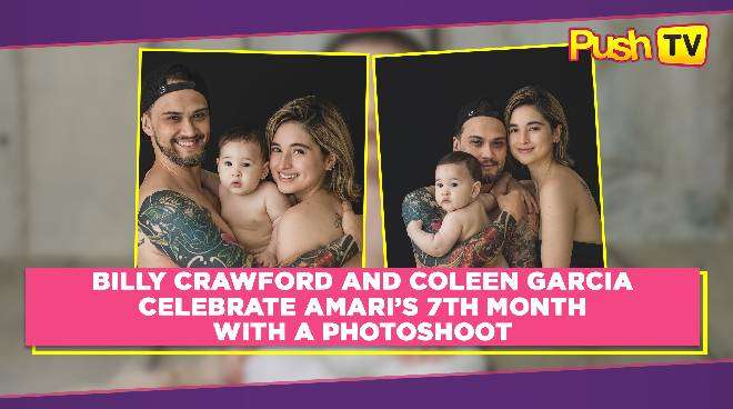 LOOK: Billy Crawford and Coleen Garcia celebrate Amari's 7th month with a photoshoot