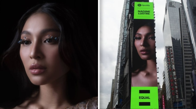 SPOTTED: Nadine Lustre featured on Spotify billboard in New York