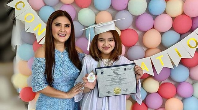 Vina Morales is a proud mom as daughter Ceana graduates from elementary