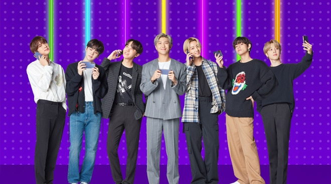 BTS featured in limited edition prepaid kit