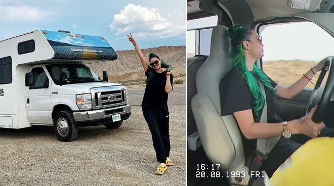LOOK: Arci Muñoz takes an 11-hour road trip in the US