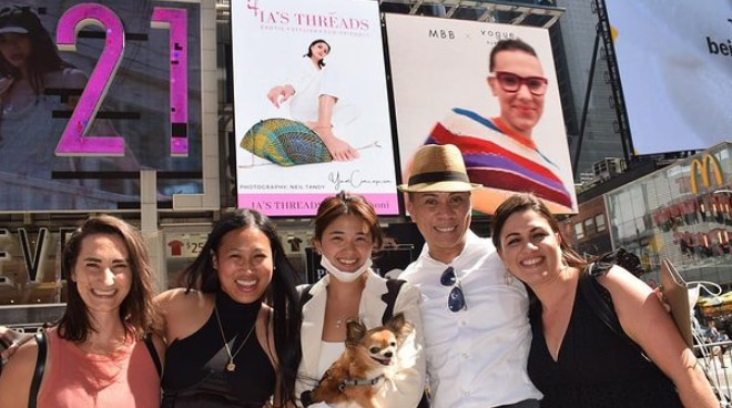 LOOK: Yam Concepcion has a billboard at New York's Times Square