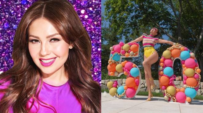 SEXY AT 50: Mexican actress Thalia celebrates her birthday in style