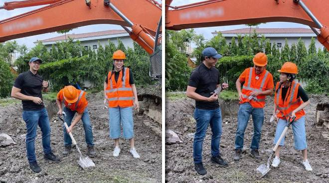 WATCH: Alex Gonzaga vlogs groundbreaking of her future home with Mikee Morada