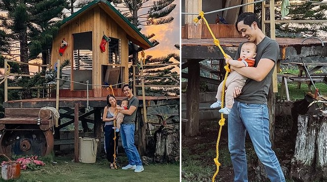 LOOK: Slater Young and Kryz Uy share glimpse of son's tree house