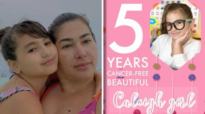 Jackie Forster marks fifthyear of daughter Caleigh being cancer-free