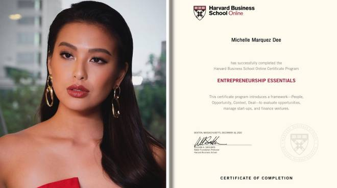 LOOK: Michelle Dee completes Harvard Business Online course on entrepreneurship