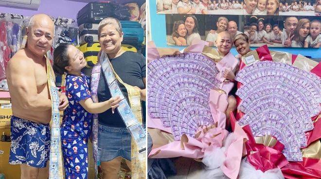 'Ibibigay ko lahat ng kaya ko': Kiray Celis surprises parents with money bouquet