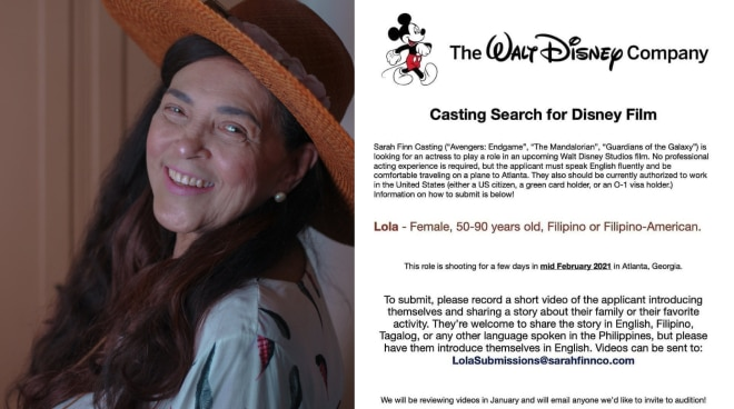 'Pasado ba?' Gina Pareno expresses interest to play Lola role in Disney film