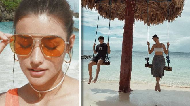 LOOK: Liza Soberano shares beach trip photos with Enrique Gil and family