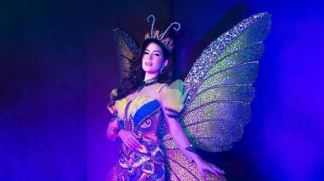 LOOK: Vickie Rushton's butterfly-inspired national costume for Bb Pilipinas 2020