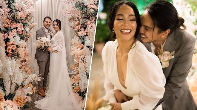 Benj Manalo and Lovely Abella get married