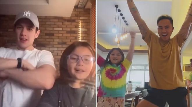 WATCH: Ellie Eigenmann does TikTok dance with her two 'dads'
