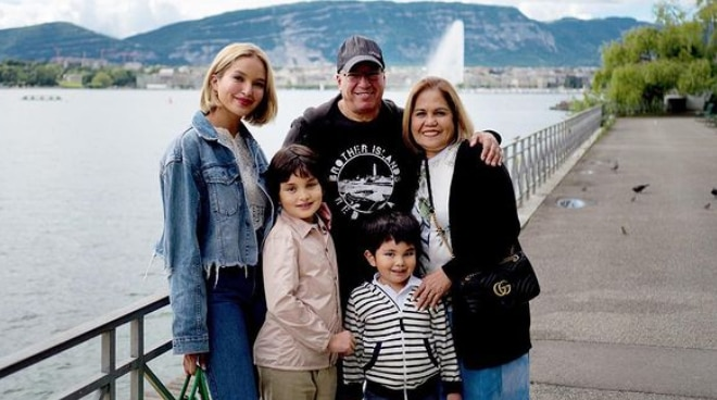 Sarah Lahbati travels to Switzerland after one year to reunite with her father
