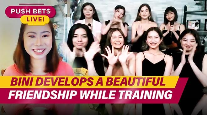 BINI develops a beautiful friendship while training | PUSH Bets Live