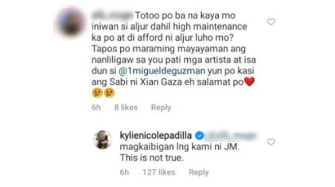 Kylie Padilla denies romance with JM de Guzman