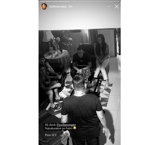 Kylie Verzosa and Christian Bables join forces for new Joel Lamangan film shooting day