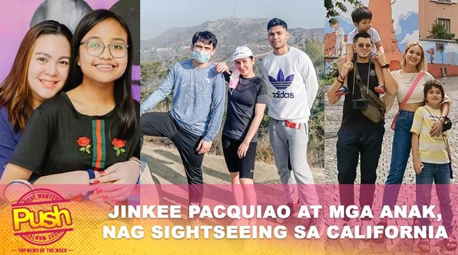 Jinkee Pacquiao at mga anak, nag sight-seeing sa California | Push Most Wanted