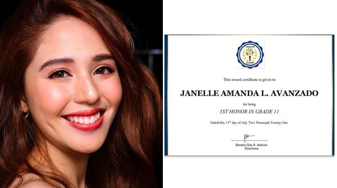 LOOK: Jayda receives first honor certificate from her school