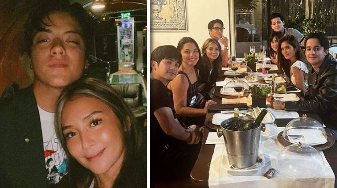 Daniel Padilla and Kathryn Bernardo have dinner out with celebrity friends