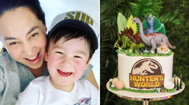 Cristalle Belo celebrates son Hunter's birthday with dino-themed party
