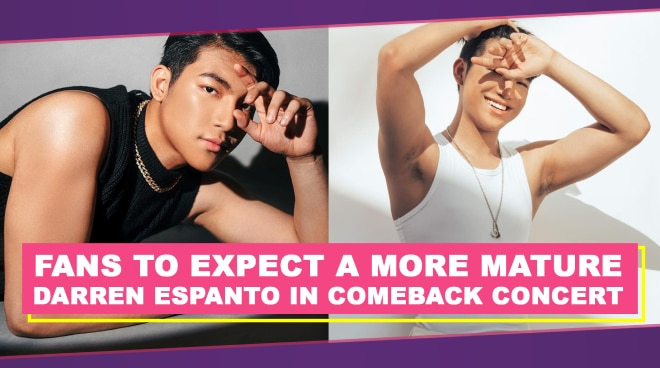 Fans to expect a more mature Darren Espanto in comeback concert