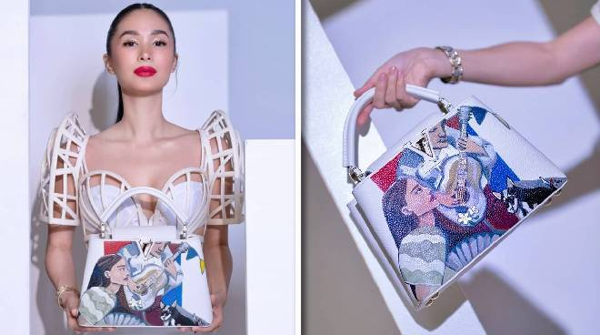 'Proudly Filipino': Heart Evangelista collaborates with Louis Vuitton for 'Harana' hand-painted bag