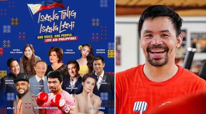 Manny Pacquiao returns to singing in 'Isang Tinig, Isang Lahi' fundraising concert