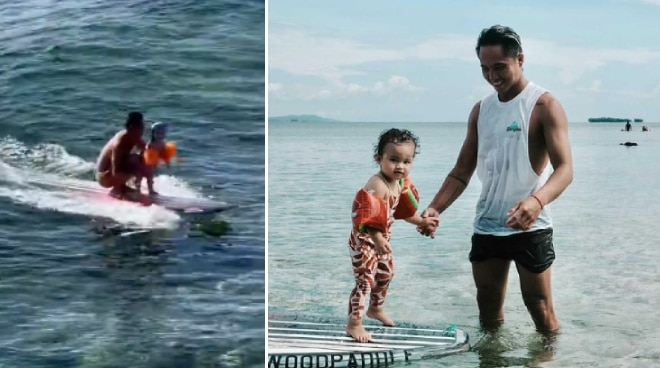 WATCH: Philmar Alipayo and daughter Lilo conquer the waves