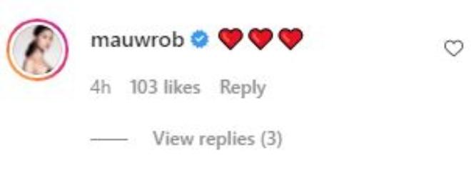Maureen Wrob Instagram comment on JK Labajo sweet birthday greetings