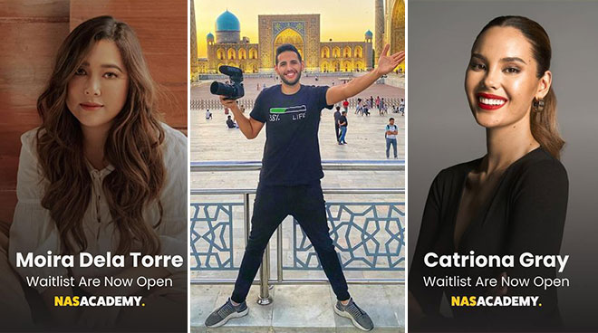 Moira Dela Torre, Catriona Gray, and Erwan Heussaff join Nas Daily's Nas Academy