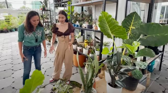 WATCH: Nadine Lustre takes Karen Davila around her mom's plant shop in Quezon City
