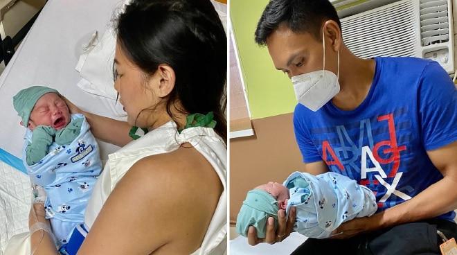 Beauty queen Jehza Huelar, PBA star PJ Simon welcome first child
